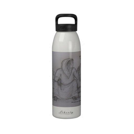 Usted es botella de agua siguiente del dibujo del