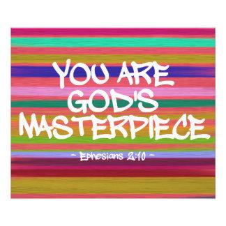 Usted es cita de Ephesians de la obra maestra de Fotografías