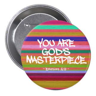 Usted es cita de Ephesians de la obra maestra de Pin Redondo 7 Cm