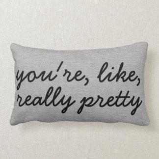 Usted es como el lino elegante rústico realmente cojines
