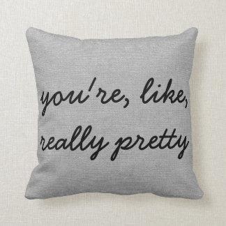 Usted es como el lino elegante rústico realmente almohadas
