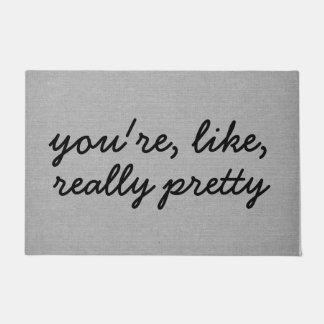 Usted es como el lino elegante rústico realmente