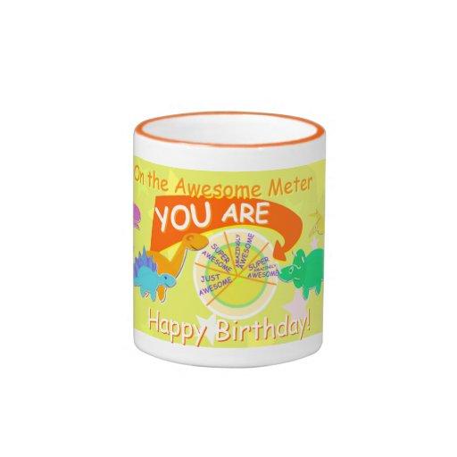 Usted es cumpleaños impresionante estupendo del di taza a dos colores