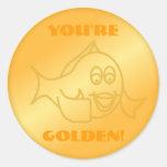 ¡Usted es de oro! Pegatina