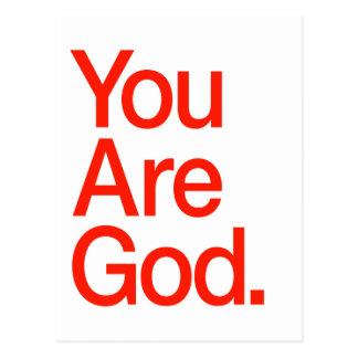 Usted es dios postal
