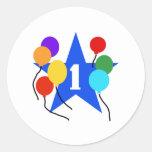 Usted es el 1r cumpleaños de la estrella etiquetas redondas
