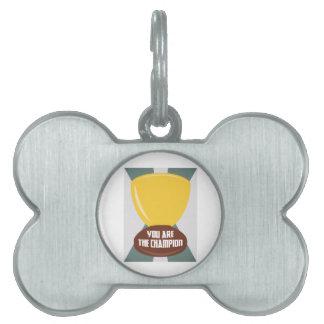 Usted es el campeón placa de mascota
