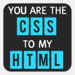 Usted es el CSS a mi HTML Calcomania Cuadradas