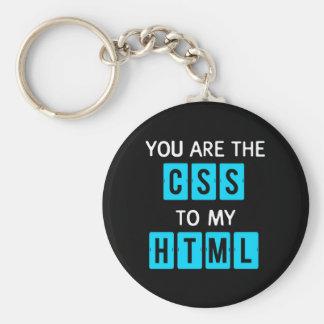 Usted es el CSS a mi HTML Llavero Redondo Tipo Pin