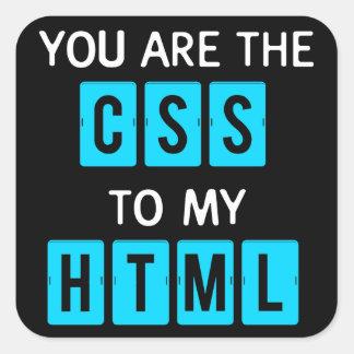 Usted es el CSS a mi HTML Pegatina Cuadrada