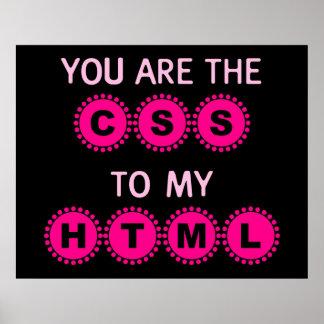 Usted es el CSS a mi HTML Póster