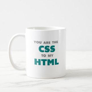 Usted es el CSS a mi HTML - taza de café