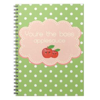¡Usted es el jefe, compota de manzanas! Libros De Apuntes