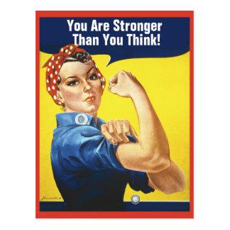 Usted es el más fuerte que usted piensa a Rosie Postales