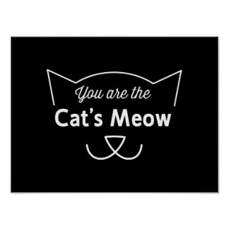 Usted es el maullido del gato póster