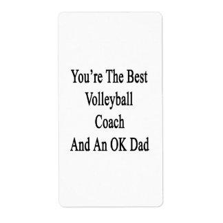 Usted es el mejor coche del voleibol y un papá etiqueta de envío