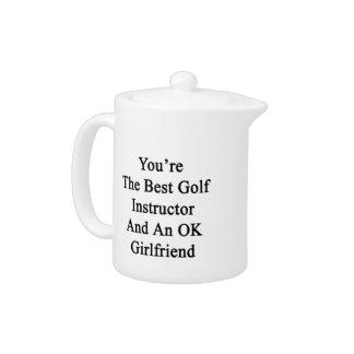 Usted es el mejor instructor del golf y un