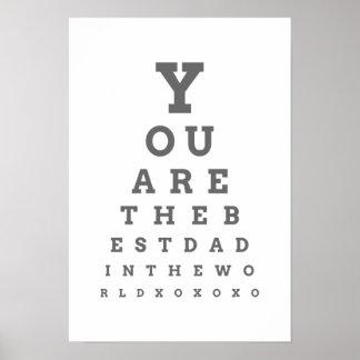 Usted es el mejor papá del poster de la carta de