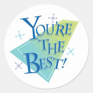 ¡Usted es el mejor! Pegatina Redonda