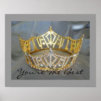 Usted es el mejor poster de la corona del oro