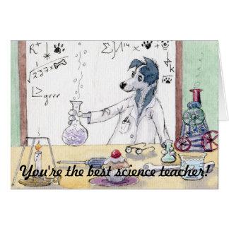 Usted es el mejor profesor de ciencias - gracias C Felicitacion