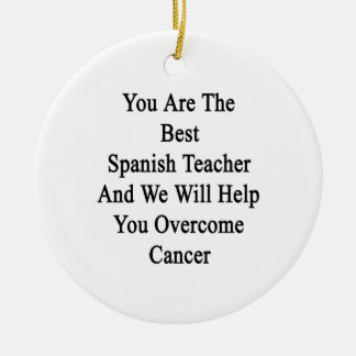 Usted es el mejor profesor español y ayudaremos