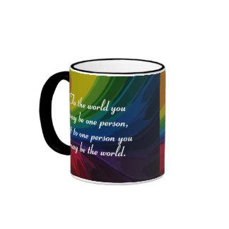 Usted es el mundo alguien tazas de café