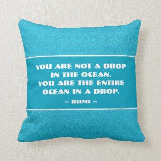 Usted es el océano entero en un descenso cojin