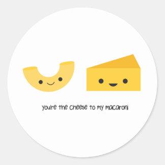 Usted es el queso a mi pegatina de los macarrones