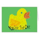 Usted es el tarjeta