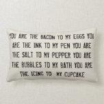 Usted es el tocino a mi almohada de los huevos
