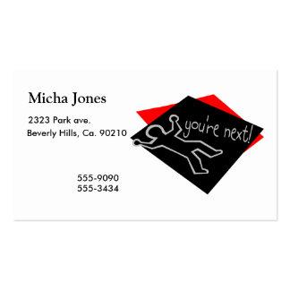 Usted es esquema siguiente de la tiza tarjetas de visita