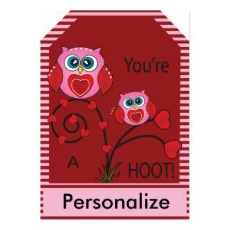 Usted es etiquetas de pitido de un regalo del búho tarjetas de visita grandes