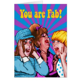 Usted es fabuloso tarjeta de felicitación