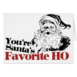 Usted es favorito de Santa HO Tarjeton