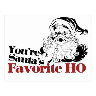 Usted es favorito de Santa HO Tarjetas Postales
