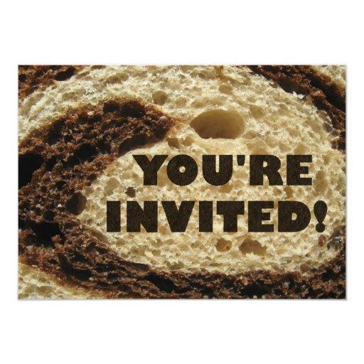 """Usted es fondo invitado del pan de Rye Invitación 5"""" X 7"""""""