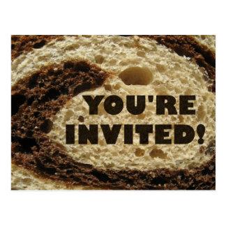 Usted es fondo invitado del pan de Rye Postal