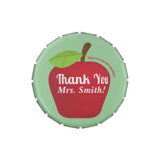 ¡Usted es gran profesor! Manzana del aprecio del p Jarrones De Caramelos