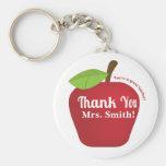 ¡Usted es gran profesor! Manzana del aprecio del p Llaveros Personalizados