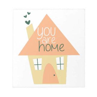 Usted es hogar blocs de notas