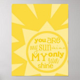 usted es impresión del poster de mi sol