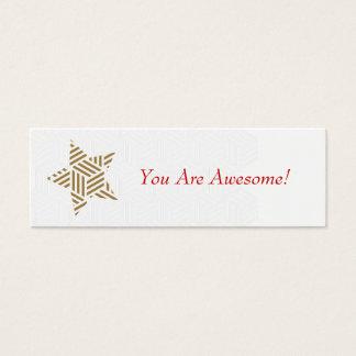 ¡Usted es impresionante! (Estrella del oro de la Tarjetas De Visita Mini