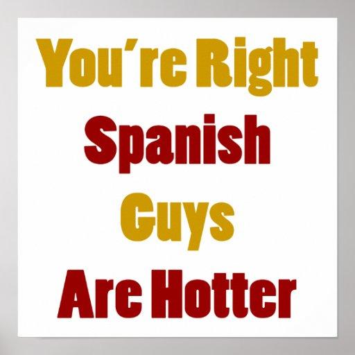Usted es individuos españoles adecuados es más cal póster