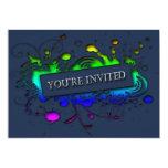 Usted es invitación abstracta invitada