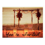 Usted es invitación invitada del boda de playa tarjetas postales