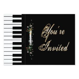 """USTED es invitaciones INVITADAS del fiesta - piano Invitación 5"""" X 7"""""""
