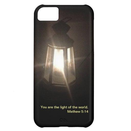 Usted es la luz de mi mundo funda para iPhone 5C