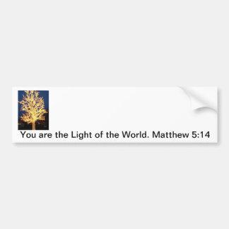 Usted es la luz del mundo pegatina de parachoque