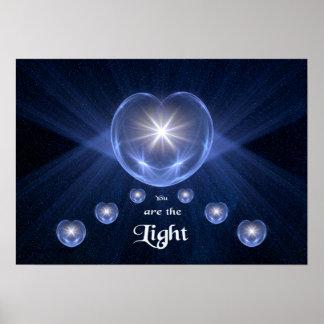 Usted es la luz póster